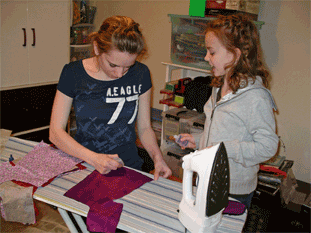 Sewing AG clothes with Madison