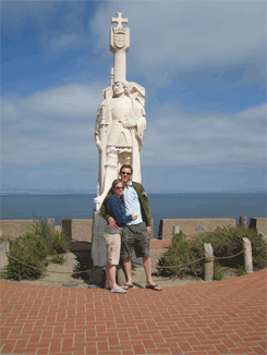 Us at the Cabrillo Statue
