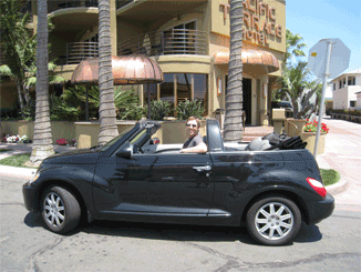 Our rental car and hotel