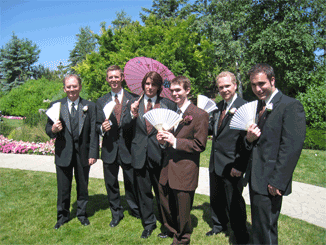 The Groomsmen and their Manly Fans