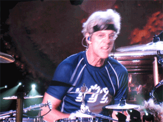 Stewart Copeland on drums