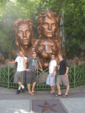 The boys pay homage to Siegfried and Roy