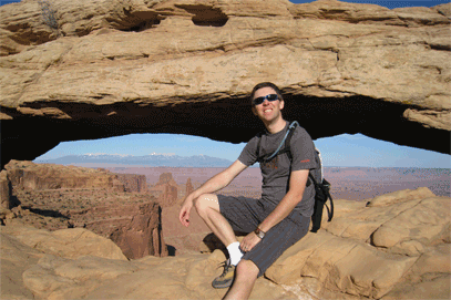 Jas at Mesa Arch in Canyonlands.