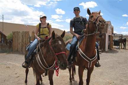 My horse's name was Ruby. Jason's was DK. He asked our guide if that stood for Donkey Kong.