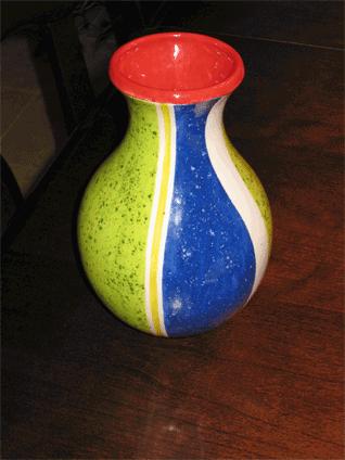 My vase after kilning