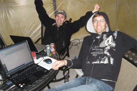 Jason and Drew were so intent on programming thei beloved site that they consented to progam in our freezing basement in the middle of winter.