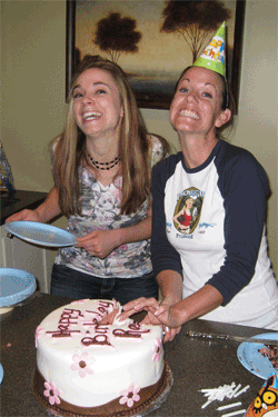 Me and Robyn with the fantastic cake she made