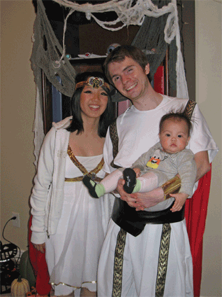 My brother, Drew, came as Mark Antony and his wife, Simone, came as his lover Cleopatra.