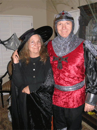 Here are my parents in their Halloween attire.