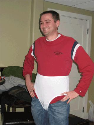 Brett in his prize panties