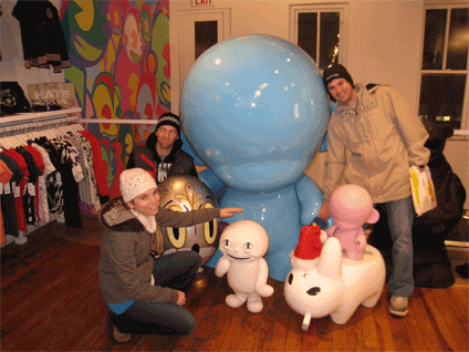 We randomly found this bizarre and fun store called Kidrobot while we were meandering through Soho