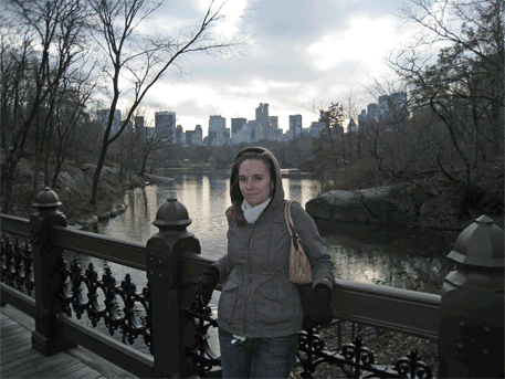 Here I am in Central Park.