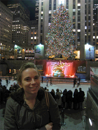 This is me hanging out at the Rockefeller Center
