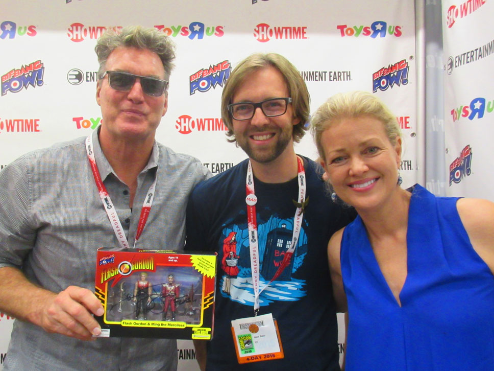 Jason watched Flash Gordon incessantly as a kid so he was thrilled to meet these saviors of the universe.