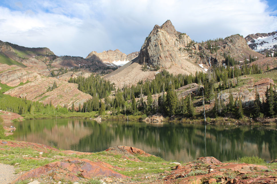 Lake Blanche is remarkably reflective, almost dazzling.