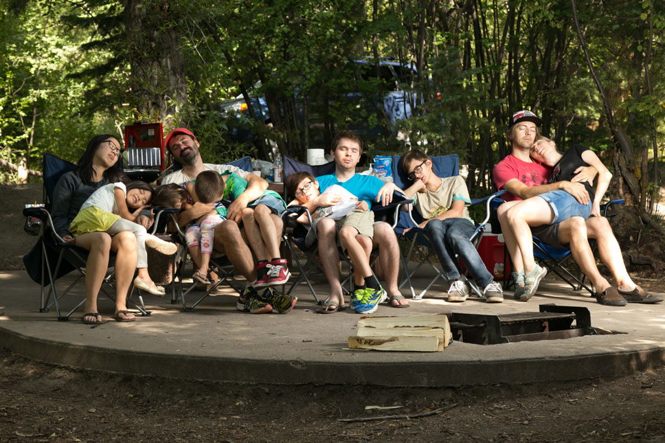 Our camping group is usually a little livelier than this.