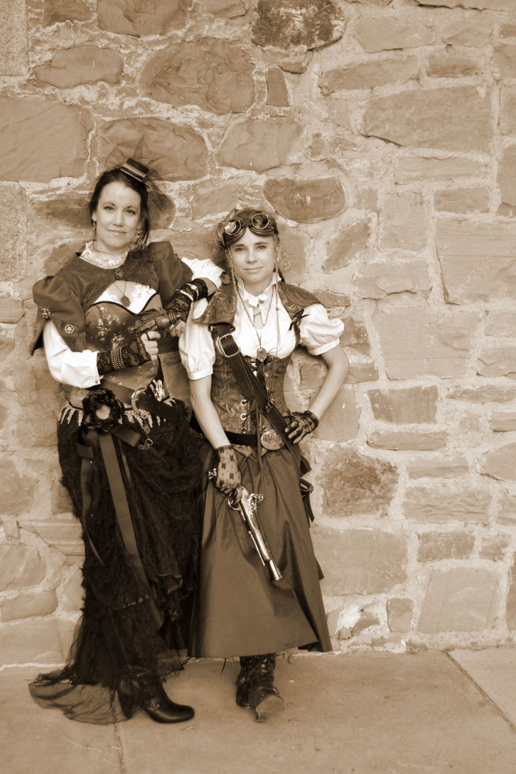 """Robyn and I were going for a """"Victorian gangster"""" vibe here."""