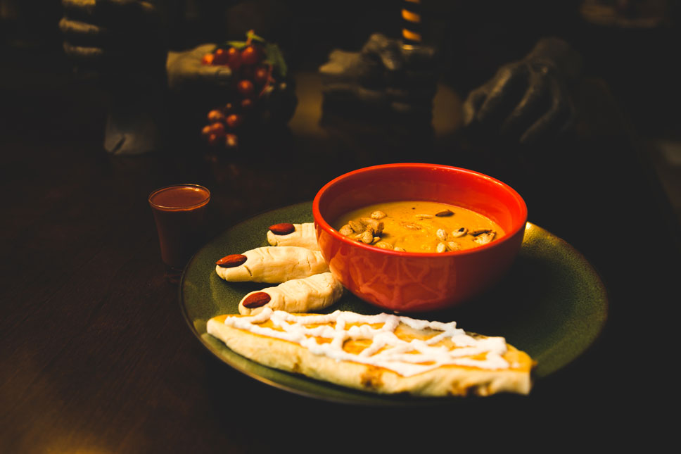 Making a spooky dinner is a favorite October tradition of ours.