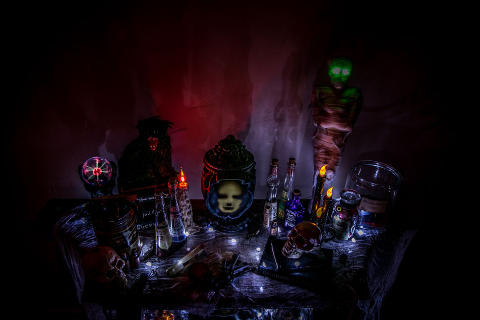 Just your typical haunted tabletop.