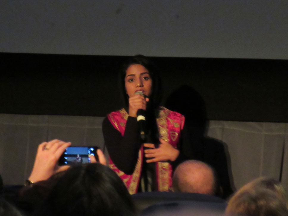 It's hard to get good photos in dark theaters but a bad picture of Sonita is better than none at all.