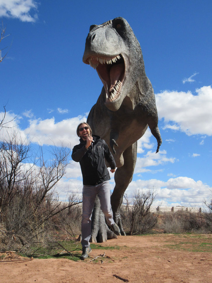 There comes a time in every man's life when he needs to run from a T. rex.