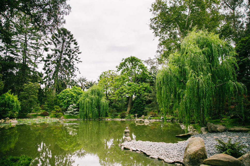 Lotusland's Japanese Garden is full of graceful curves and tranquil waters.
