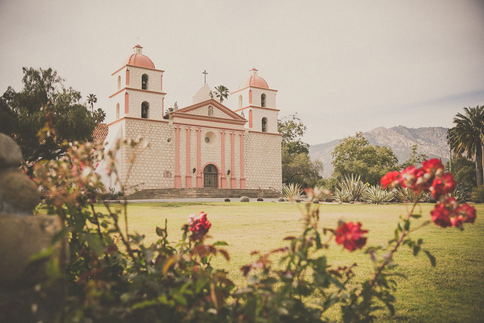 The Santa Barbara Mission is a vivacious piece of history.