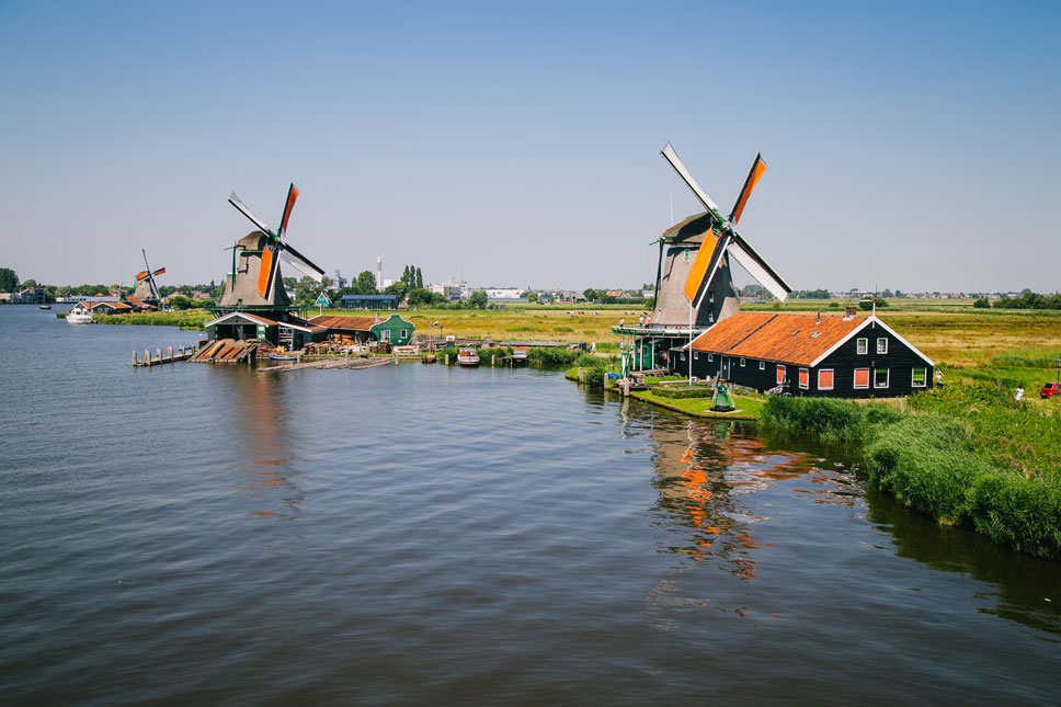 The Zaan district, the oldest industrial region in the world, once contained over 1000 windmills.