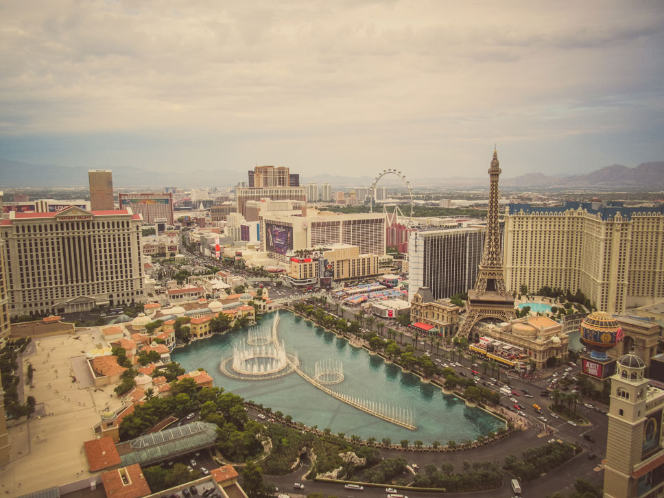 Even during the day, Vegas was intriguing from above.