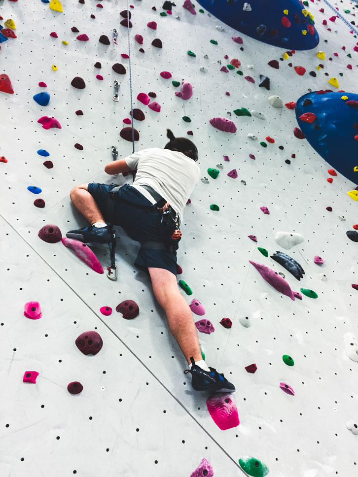 Adam's overabundance of climbing enthusiasm was contagious.