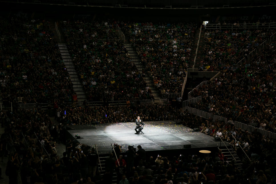 Mark Hamill filled nearly all of the Vivint Smart Home Arena's 20,000 seats, his largest audience to date.