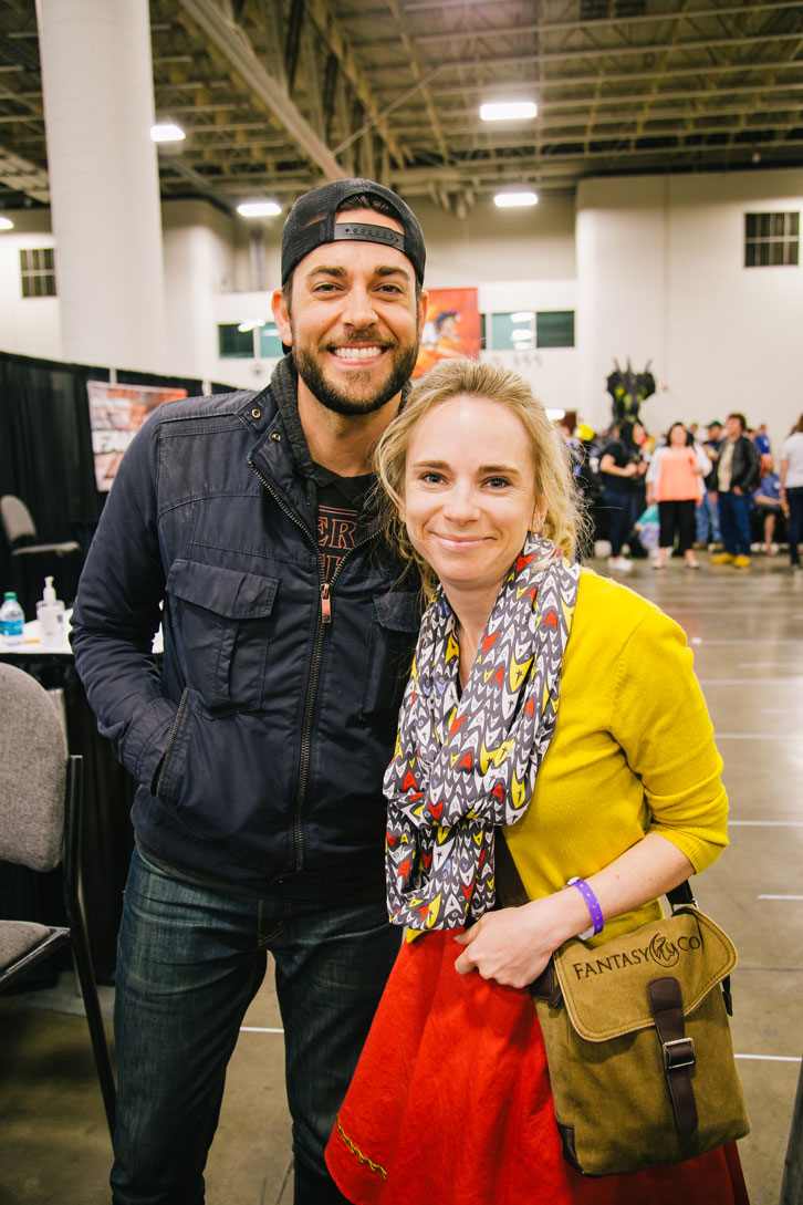 This is a truly terrible picture of me. It's included here to prove two things. One, I did get a hug from Zachary Levi. Two, fangirl is not a flattering look.