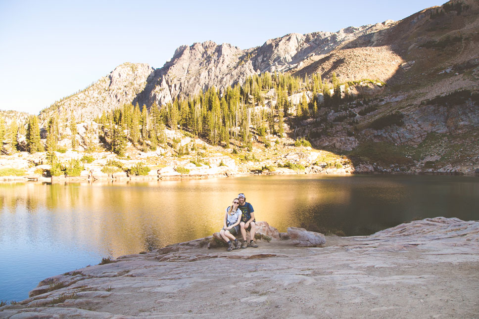 Somehow we managed to get a picture of Cecret Lake without gobs of people in it.