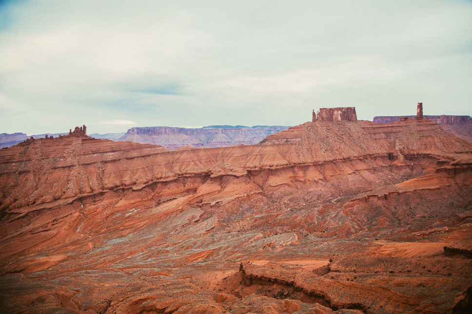 In Moab, striking colors blend in bewildering ways.