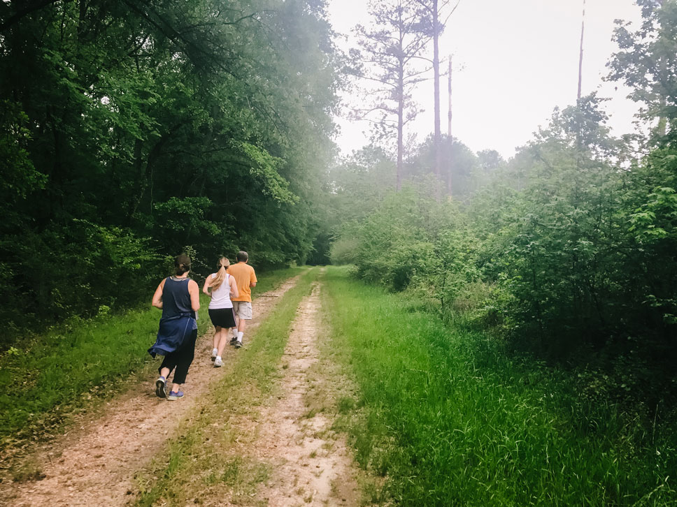 Running is not a popular pastime in the South. We ran into more rattlesnakes than runners during a 10-mile jog.