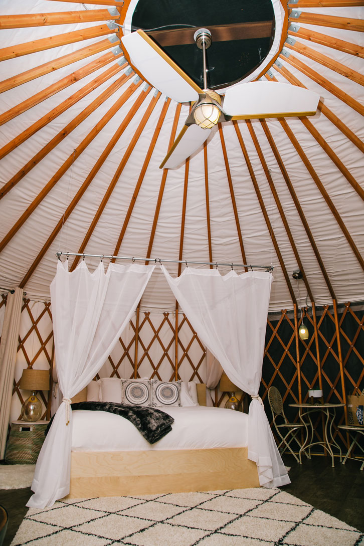Our yurt was unexpectedly spacious and swanky!