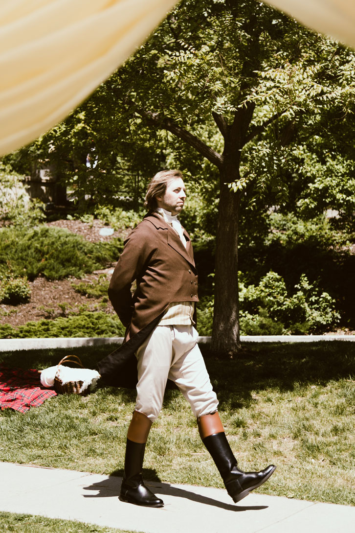 Pedestrianism, or competitive walking, was a sport in Regency times. We held a manly walking contest at the picnic. Jason's snobby strides won.