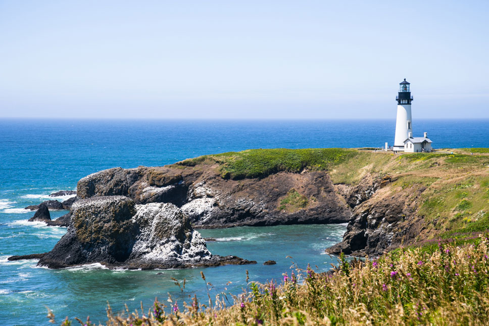 The Yaquina Head Lighthouse has been guiding ships to safety for over 140 years.