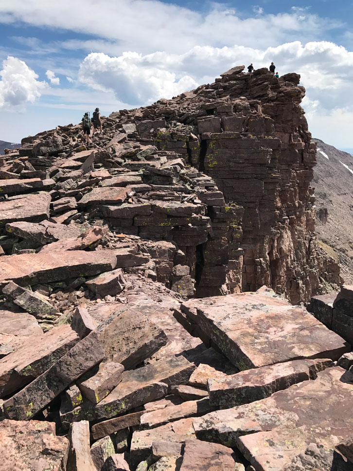 From saddle to summit, Kings Peak is an 800-foot-high pile of stone chunks.