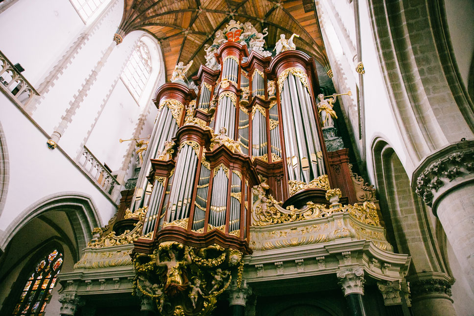 The Grote Kerk's showy organ has attracted many famous musicians over the centuries, like Handel and Mozart.