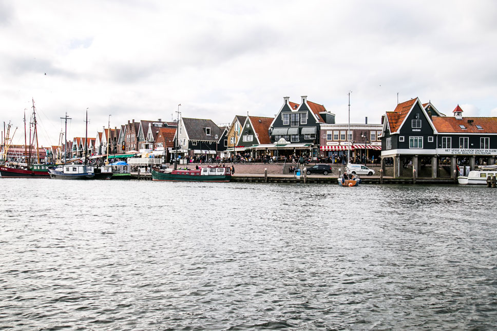 The IJsselmeer, the freshwater lake bordering Volendam, was created by the industrious Dutch from an inland bay decades ago.