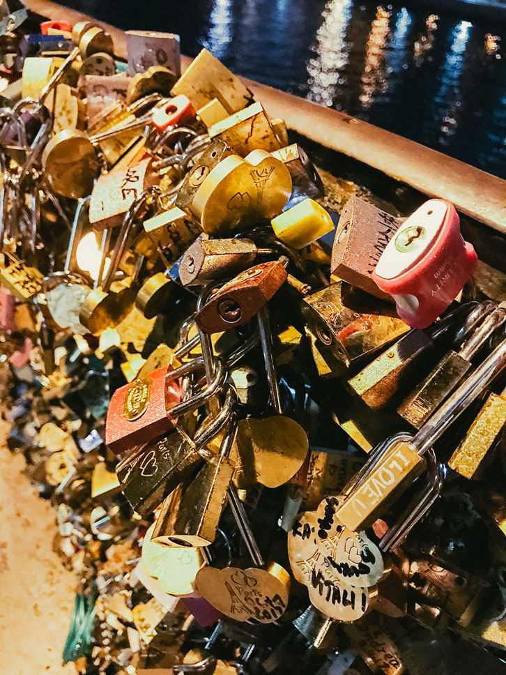 """Love locks"" have been a problem in Paris since an Italian novel for young adults popularized them a decade ago. On one bridge, 700,000 locks, the weight of 20 elephants, had to be removed when the fencing began to collapse. That's not love."
