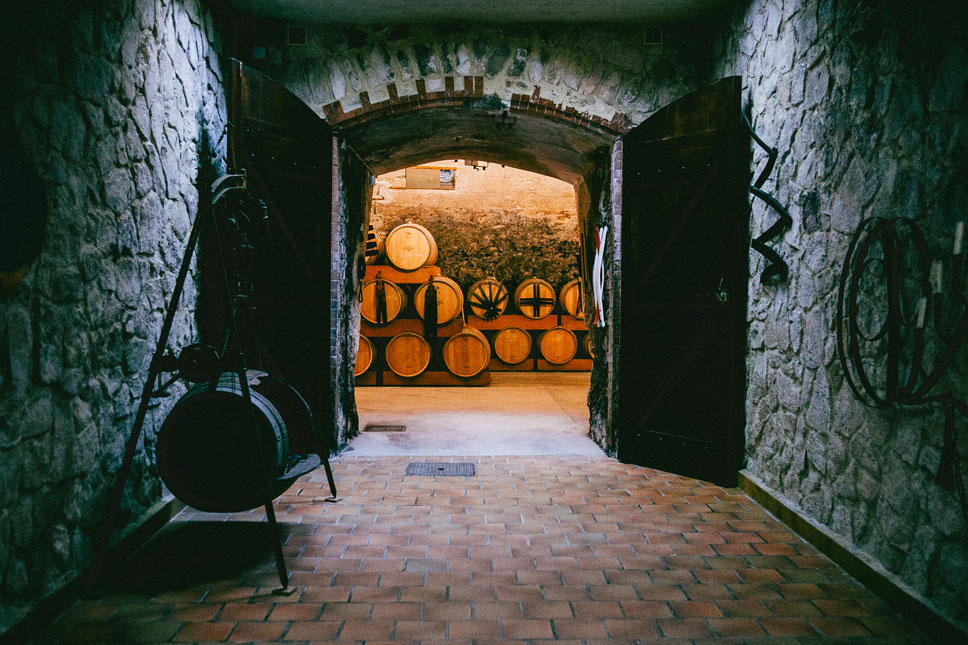 Chateau Virant's cellar fit my imaginings perfectly.